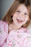 dziecko szczęśliwy jej pyjamas fotografia stock