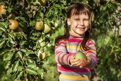 Dziecko szczęśliwy outdoors Obrazy Royalty Free