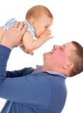 Dziecko szepcze coś tata Fotografia Royalty Free