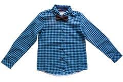 Dziecko szkockiej kraty koszula Obraz Royalty Free