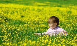 dziecko sztuka śliczna łąkowa zdjęcia stock