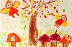 dziecko sztuki Obrazy Stock