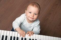 Dziecko sztuki czarny i biały pianino Obrazy Stock