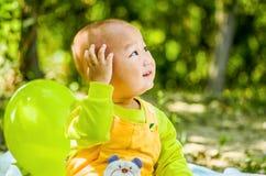 Dziecko sztuki w parku Zdjęcia Stock