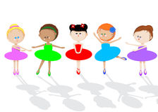 dziecko taniec royalty ilustracja