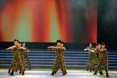 Dziecko taniec: Porcelanowy Kung Fu Fotografia Royalty Free