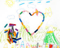 dziecko target981_1_ s Obraz Royalty Free