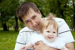dziecko tata fotografia royalty free