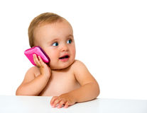 Dziecko telefon Obraz Royalty Free