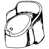 dziecko toalety Obraz Stock
