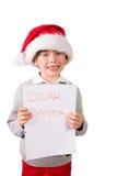Dziecko trzyma list Santa Zdjęcie Stock