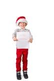 Dziecko trzyma list Santa Obrazy Royalty Free