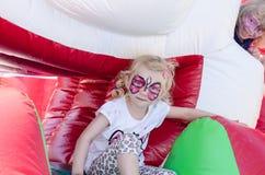 dziecko twarz robi target164_1_ malować fotografia royalty free