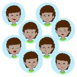 Dziecko twarzy emocja gestykuluje ilustrację, ustawia kolekcję royalty ilustracja