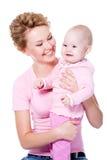 dziecko uśmiech szczęśliwy macierzysty fotografia stock