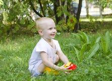 Dziecko uśmiechy Fotografia Stock