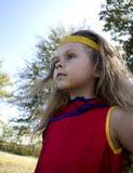 Dziecko Ubierający Up Jak bohater Obraz Royalty Free