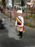 Dziecko ubierający w popularnym kostiumu Obraz Royalty Free