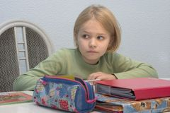 dziecko uczy się Fotografia Stock