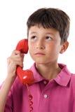 dziecko uroczy telefon obrazy stock