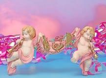 Dziecko urodzony dla zaproszenie karty kolorowy tło Zdjęcie Royalty Free