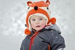 Dziecko w śniegu Zdjęcia Royalty Free