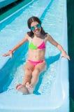 Dziecko w Aqua parku Zdjęcie Stock