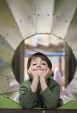 Dziecko w boisku fotografia stock