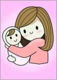 Dziecko W Czułym uścisku matka ilustracja wektor