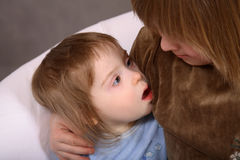 dziecko w dół Fotografia Stock