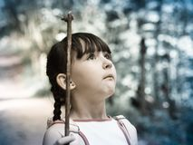 Dziecko w dżungli Obraz Stock