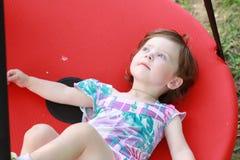 Dziecko w huśtawce Zdjęcie Royalty Free