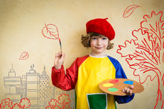 Dziecko w jesień obraz royalty free