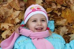 Dziecko w jesień Zdjęcia Stock