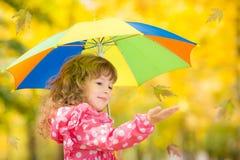 Dziecko w jesień Obrazy Royalty Free