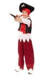 Dziecko w kostiumu - mały pirat zdjęcia stock