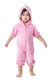 Dziecko w królika zwyczaju Zdjęcia Stock