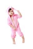 Dziecko w królika zwyczaju Obraz Stock