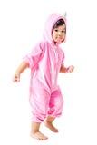 Dziecko w królika zwyczaju Fotografia Royalty Free