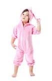 Dziecko w królika zwyczaju Zdjęcia Royalty Free