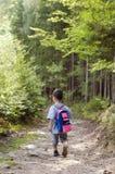 Dziecko w lesie obraz stock