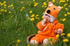 Dziecko w lisa kostiumu Fotografia Stock