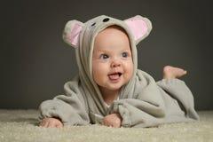 Dziecko w mysz kostiumu zdjęcia royalty free