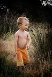 Dziecko w naturze obrazy royalty free