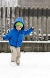 Dziecko w śniegu Obrazy Royalty Free