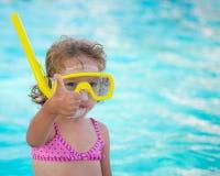 Dziecko w pływackim basenie Obraz Stock