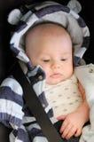 Dziecko w samochodowym siedzeniu Zdjęcie Stock