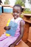 Dziecko w szkole w Uganda zdjęcie stock
