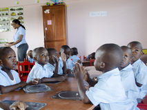 Dziecko w wieku szkolnym w Haiti zdjęcia royalty free