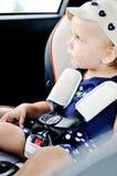 Dziecko w zbawczym samochodowym siedzeniu Obraz Stock